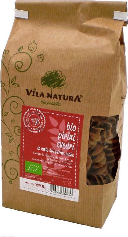 Макароны Vila Natura Фузилли, из спельты, спирали, 250 г