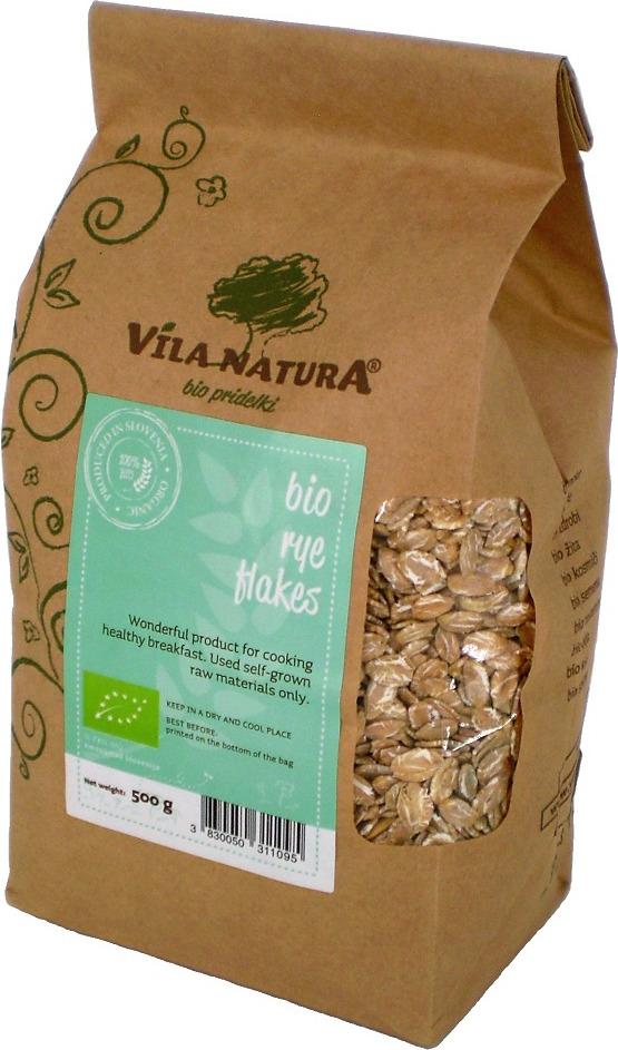 Ржаные хлопья Vila Natura, цельнозерновые, 500 г adriana pasta цельнозерновые спагетти 500 г