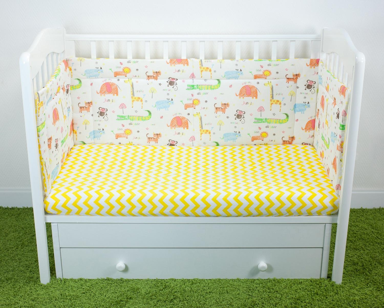 Бортики для детской кроватки Magic City Джангл 40x60