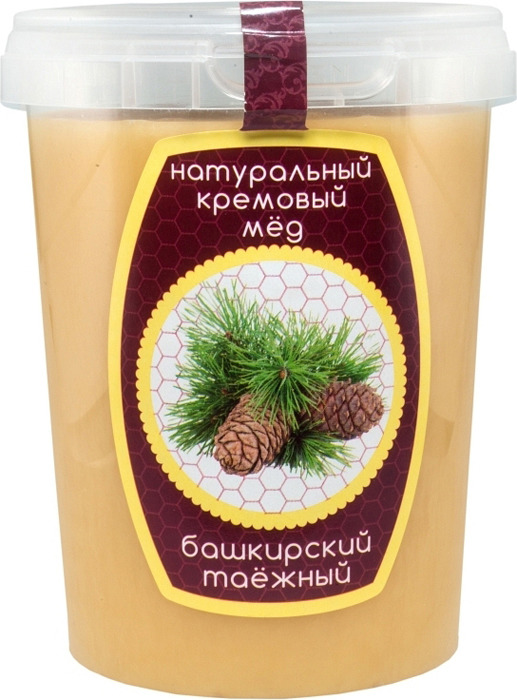 Мед Maremiel Башкирский таежный, кремовый, 650 г