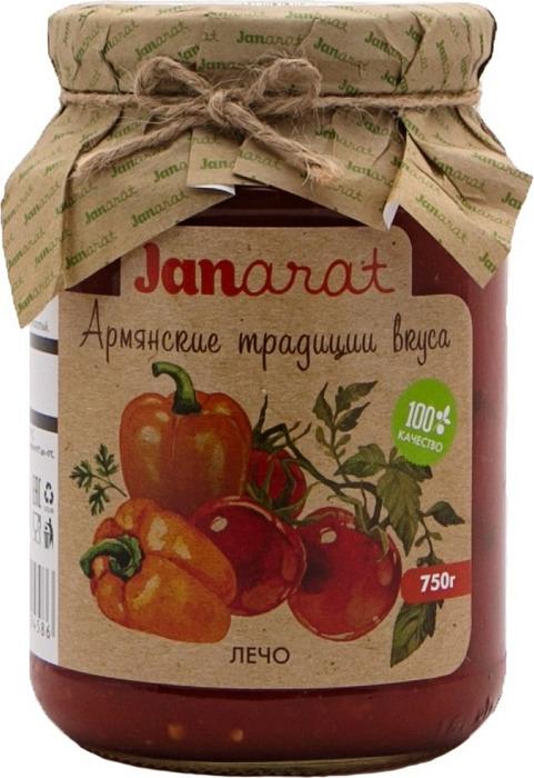Овощные консервы Janarat Лечо, 750 г овощные консервы janarat икра баклажановая по домашнему 470 г