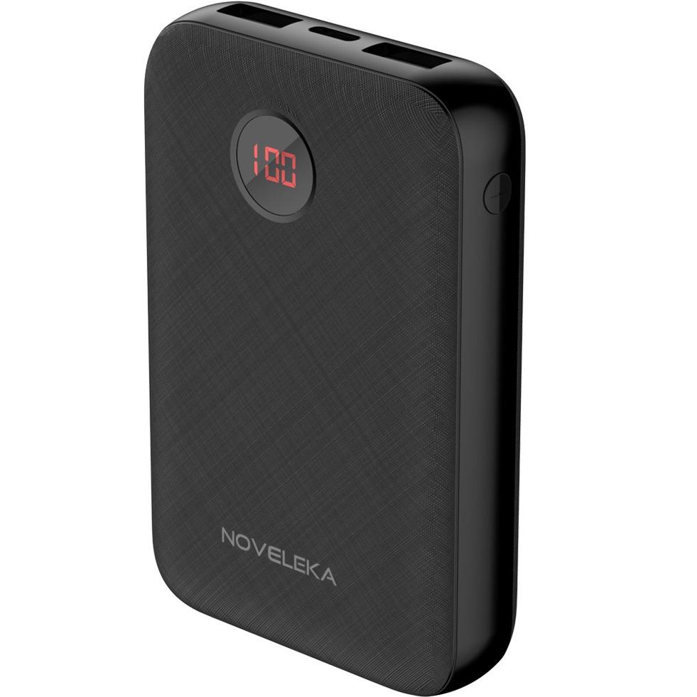 Внешний аккумулятор 10000mAh с дисплеем и Type-C входом NOVELEKA PB1 Power bank 2600mah power bank usb блок батарей 2 0 порты usb литий полимерный аккумулятор внешний аккумулятор для смартфонов светло зеленый