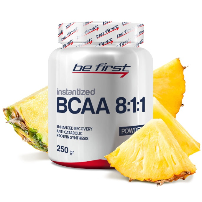 Аминокислоты Be First BCAA 8:1:1 Instantized Powder 250 гр, ананас
