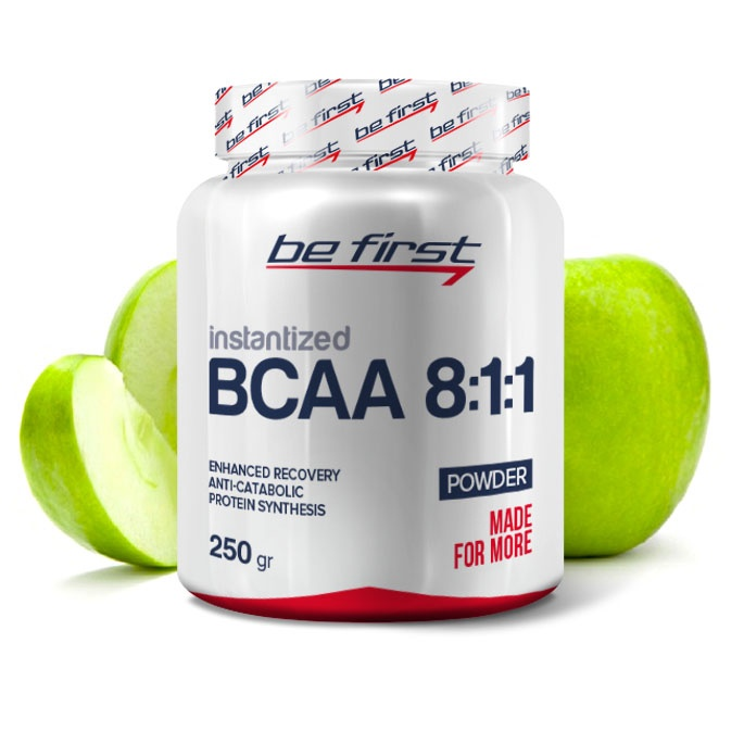 Аминокислоты Be First BCAA 8:1:1 Instantized Powder 250 гр, яблоко