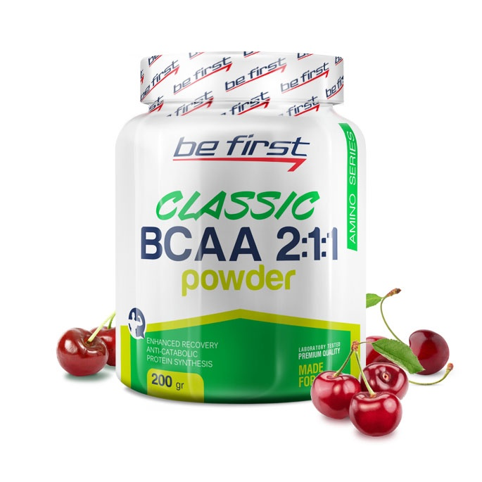 Аминокислоты Be First BCAA 2:1:1 Classic Powder 200 гр, вишня