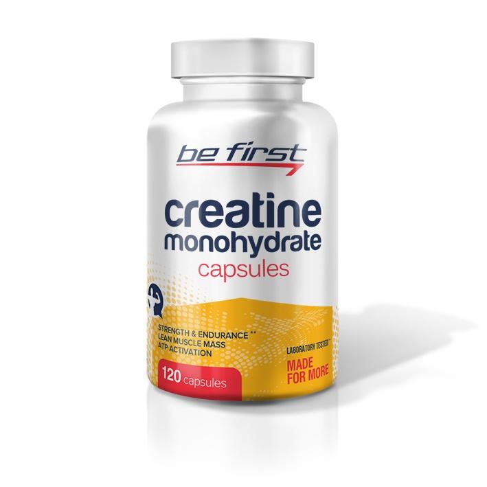 Креатин моногидрат Be First Creatine Monohydrate Capsules 120 капсул