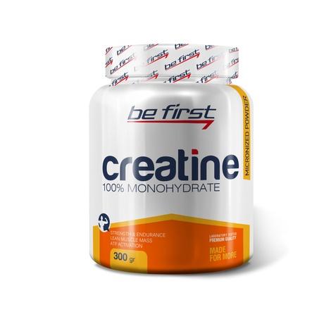 Креатин моногидрат Be First Creatine Monohydrate Micronized Powder 300 гр, без вкуса