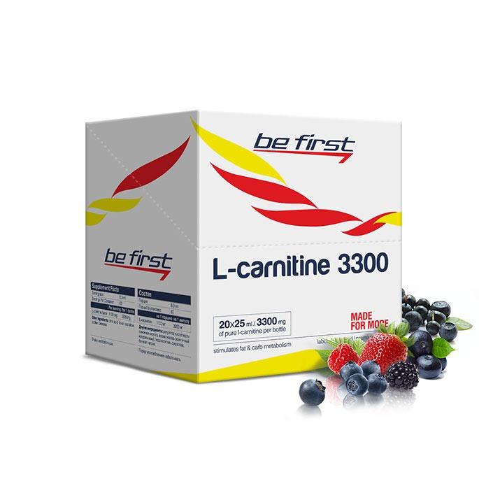 Карнитин Be First L-Carnitine 3300 мг 20 ампул, лесные ягоды