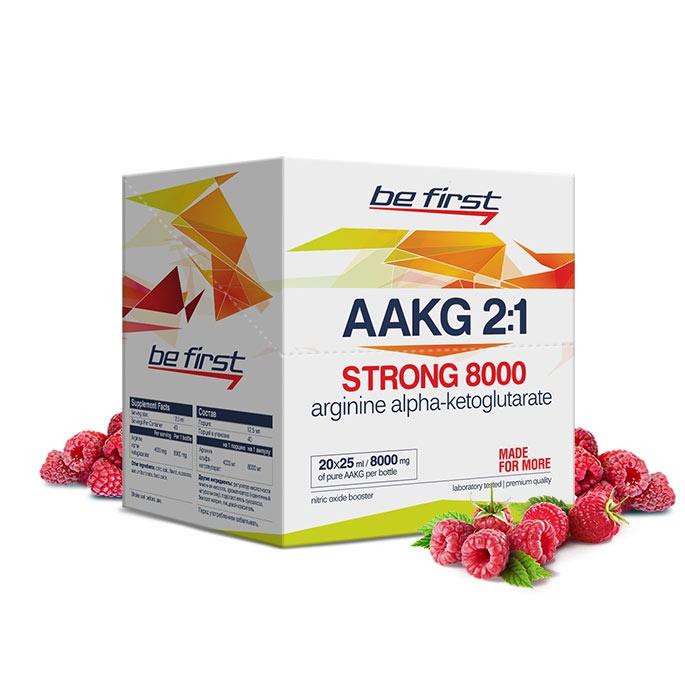 Аргинин Be First Arginine AKG Strong 8000 мг 20 ампул, малина