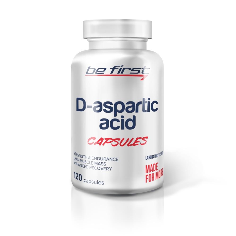 Средство для повышения тестостерона Be First D-Aspartic Acid Capsules 120 капсул