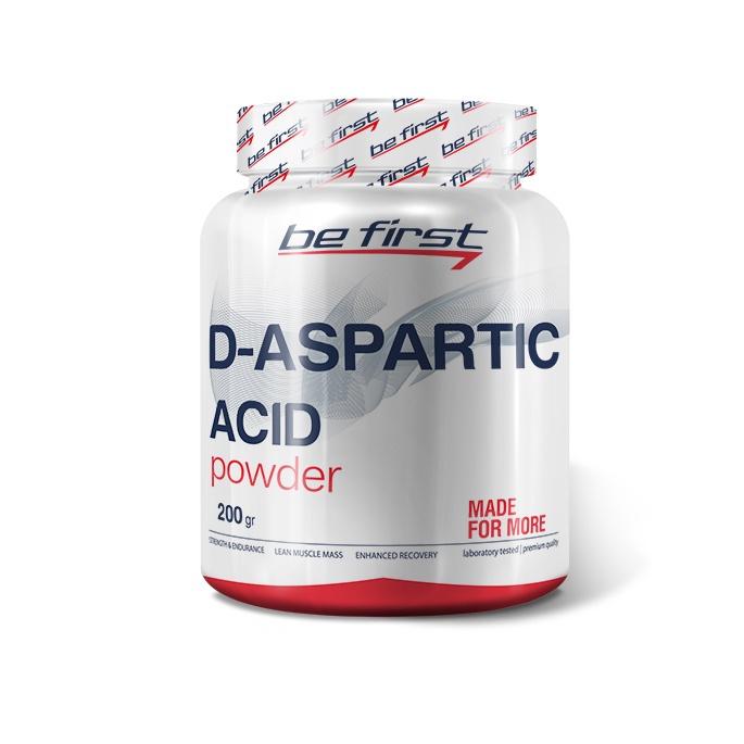 Средство для повышения тестостерона Be First D-Aspartic Acid Powder 200 гр, без вкуса