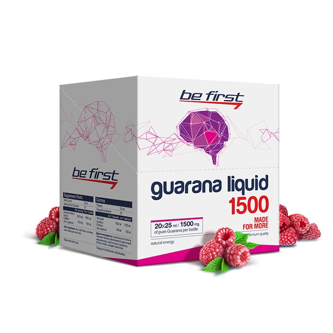 Гуарана Be First Guarana Liquid 1500 мг 20 ампул, малина