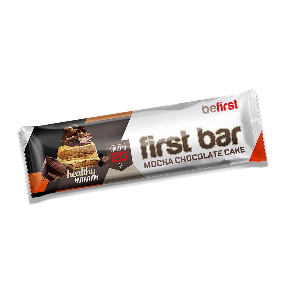 Батончик протеиновый Be First bar 40 гр * 24 шт, шоколад-мокко в шоколадной глазури