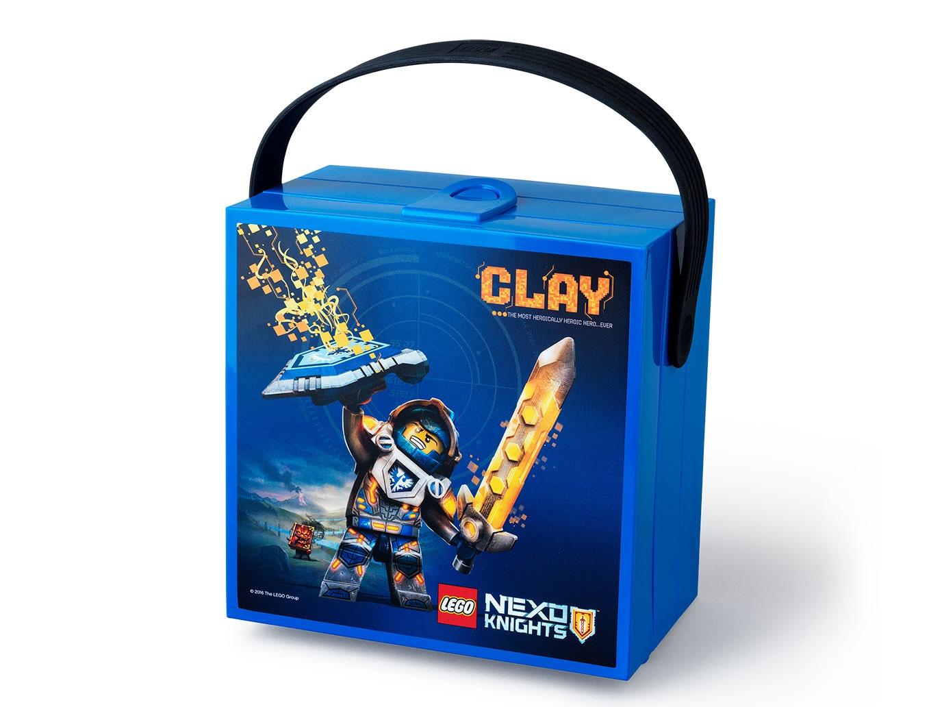 Контейнер для ланча LEGO NEXO KNIGHTS с ручкой, синий контейнер для ланча lego ninjago movie с ручкой зеленый