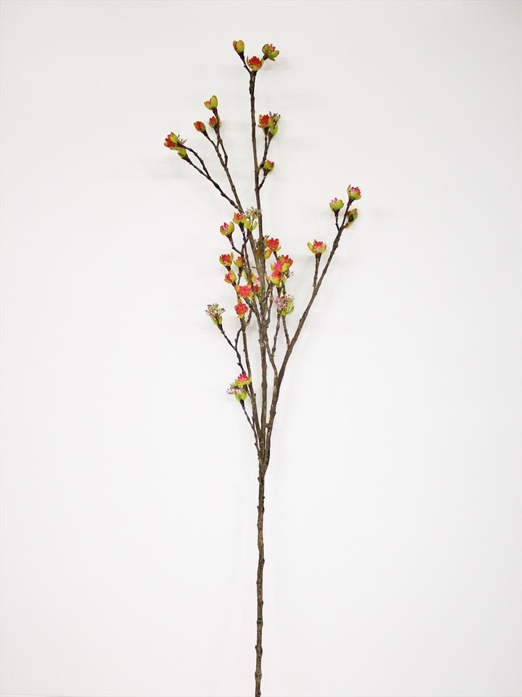 Искусственные цветы Coneko Ветка искусственная с бутонами 110 см 555354_white , 110 см круглый фарфоровый подсвечник цветущая ветка миндаля 15 см диам 970665