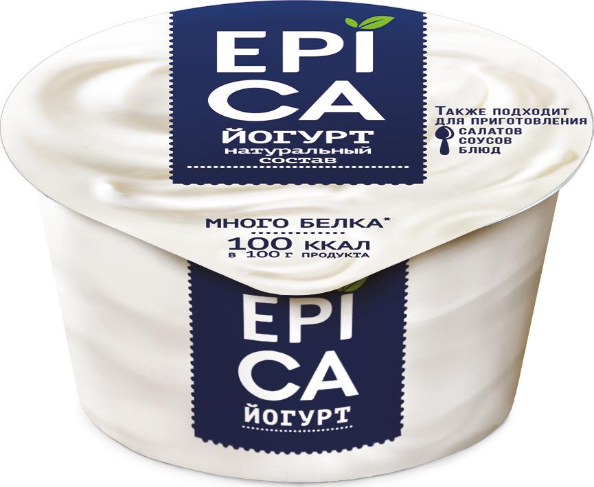 Йогурт Epica Натуральный, 6 %, 130 г