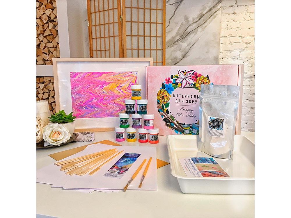 Набор для рисования на воде Amazing Color Эбру Сказка, 10 цветов наборы для рисования amav набор разрисуй буйвола