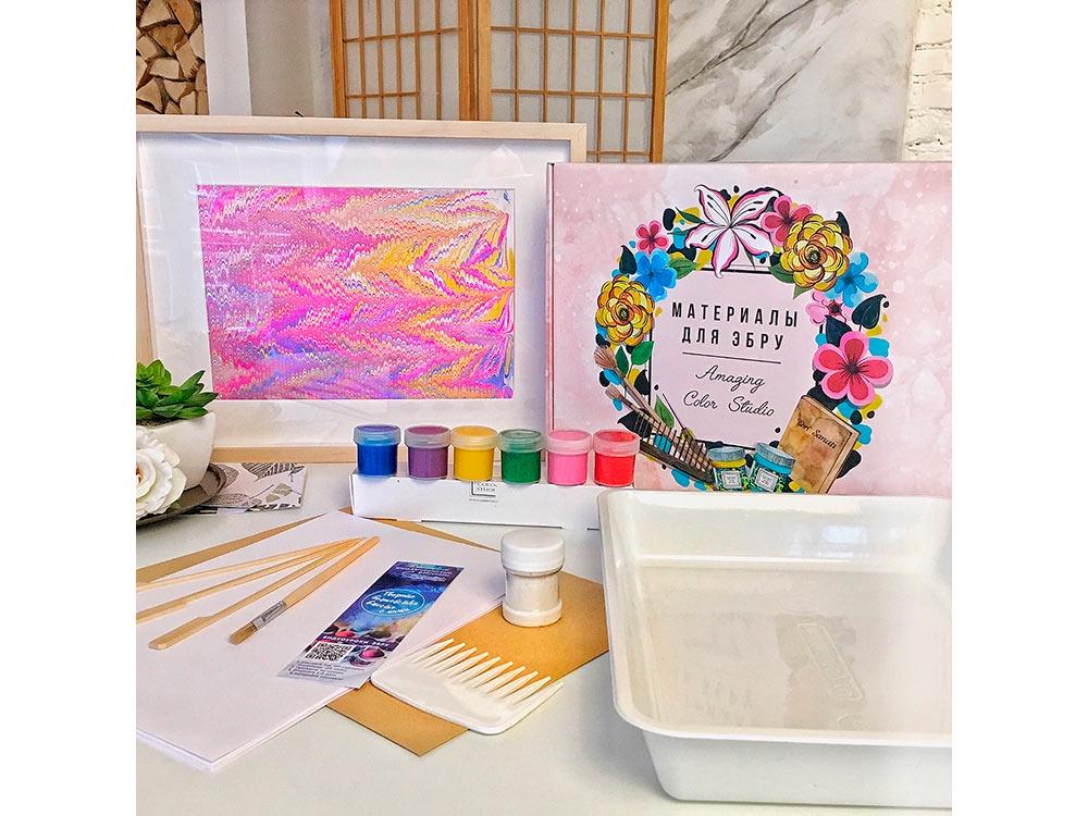 Набор для рисования на воде Amazing Color Эбру Знакомство, 6 цветов наборы для рисования amav набор разрисуй буйвола