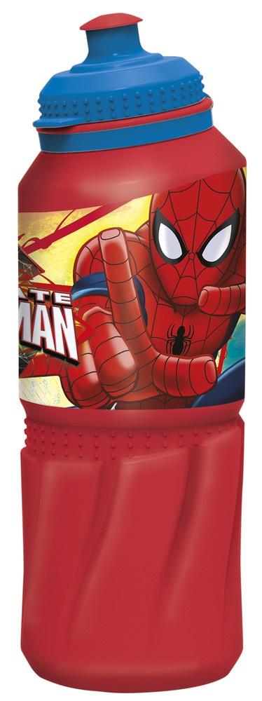 Бутылка пластиковая Stor (спортивная 530 мл). Человек-паук Красная паутина, арт. 33435 стакан stor человек паук красная паутина с соломинкой и крышкой 33430 красный 430 мл