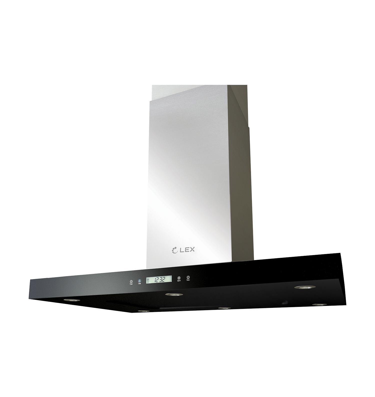 Островная кухонная вытяжка LEX Solaris Isola 900 Black