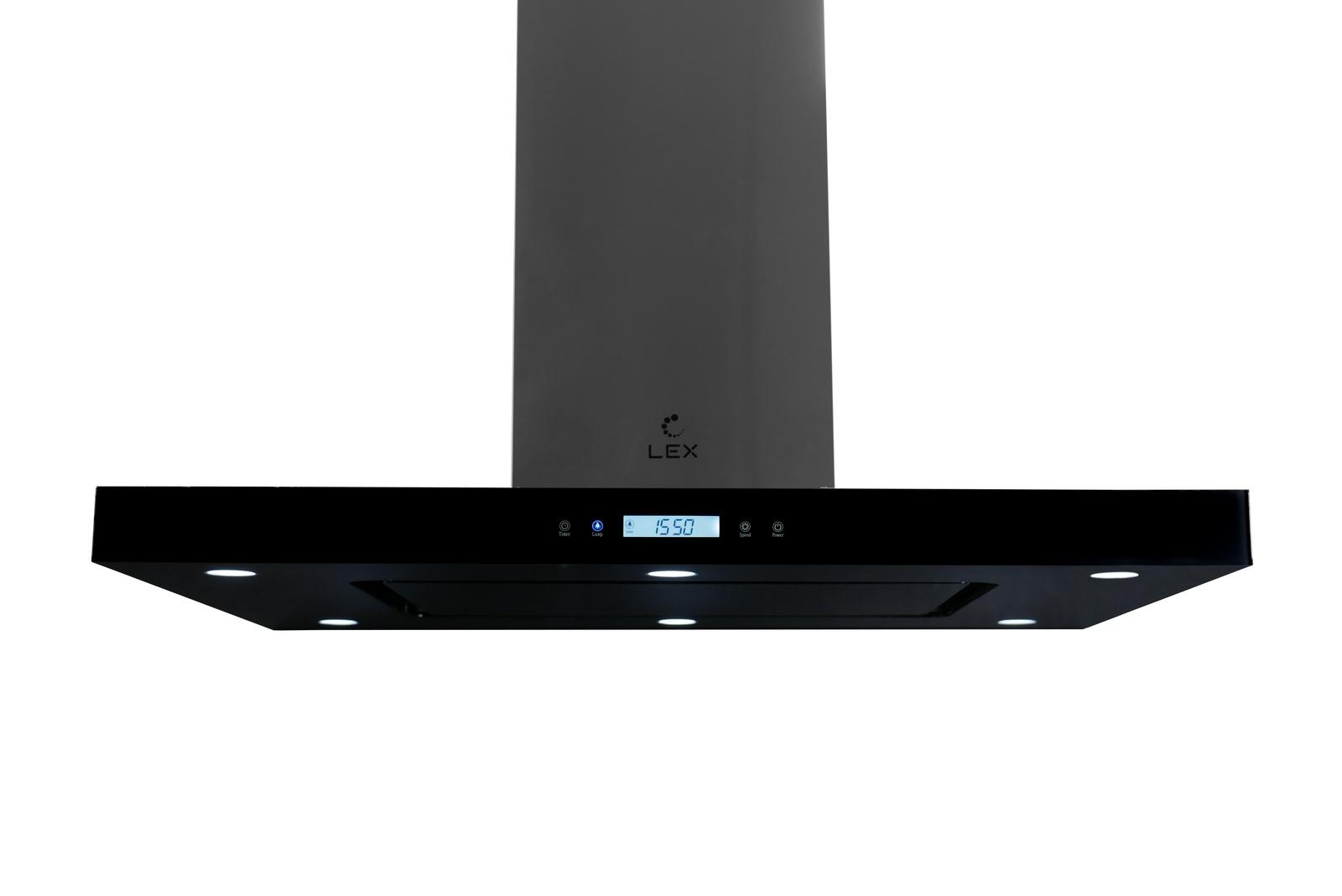 Островная кухонная вытяжка LEX Solaris Isola 900 Black LEX