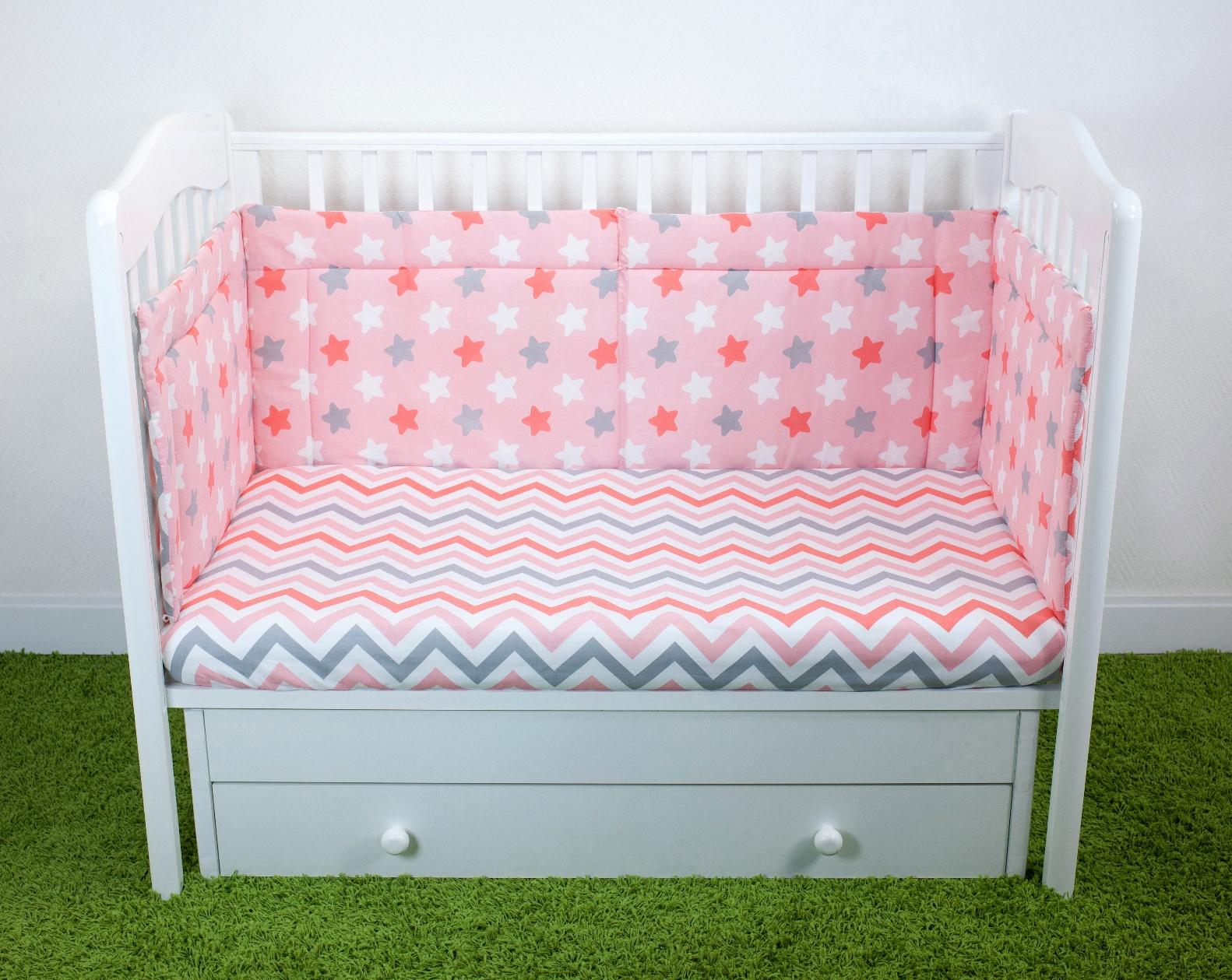 Бортики для детской кроватки Magic City Розовое созвездие 45x60