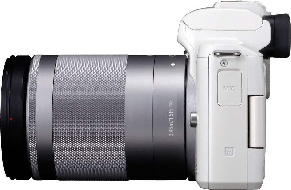 Беззеркальный фотоаппарат Canon EOS M50 kit 18-150 IS STM белый Canon
