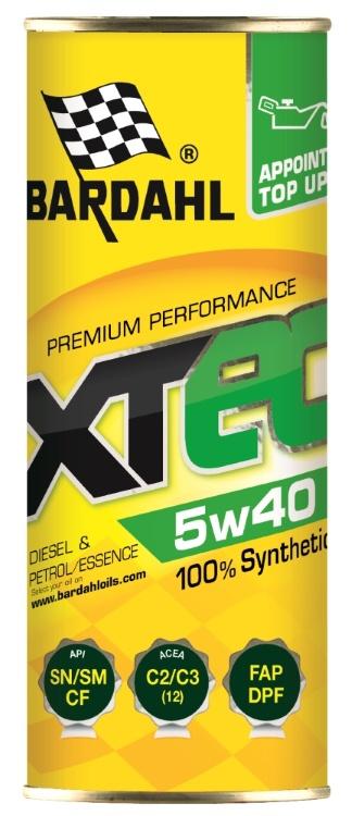 Масло моторное SAE 5W-40 (XTEC) API SN, SM, CF ACEA C3, C2 (100% синтетическое)  400мл