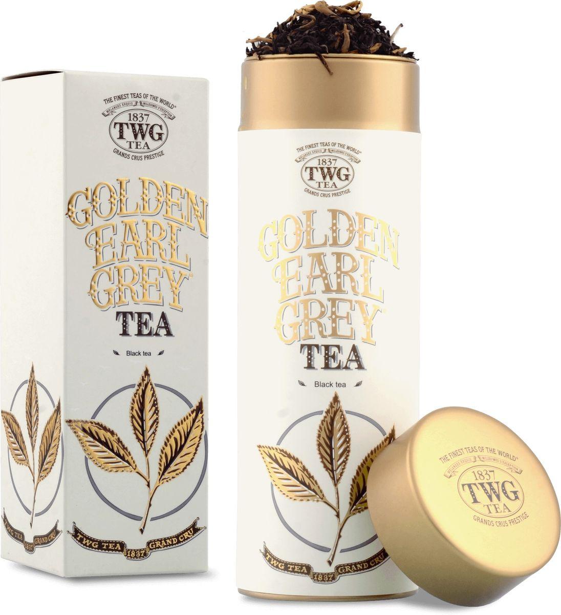 Чай листовой TWG Золотой бергамот, черный, 100 г