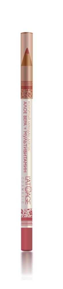 L atuage Cosmetic 4813221000263 Карандаш для губ тон 29 малиновый 1,3 г