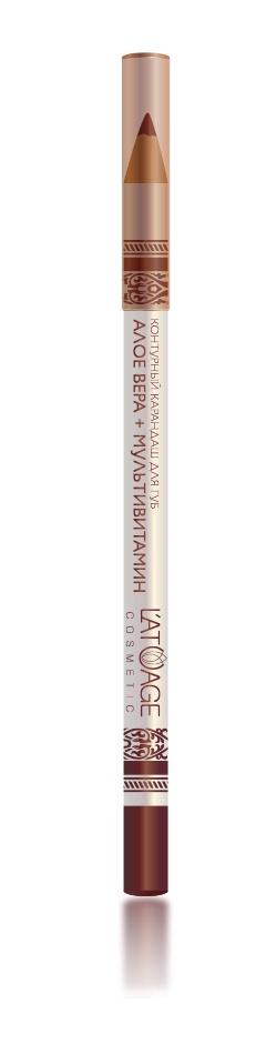 L atuage Cosmetic 4813221000188 Карандаш для губ тон 21 терракотовый 1,3 г
