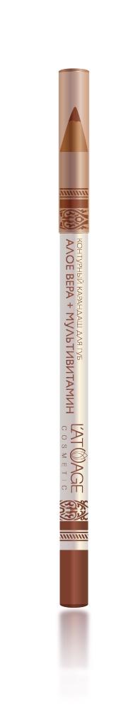 L atuage Cosmetic 4813221000201 Карандаш для губ тон 23 бежевый - терракот 1,3 г