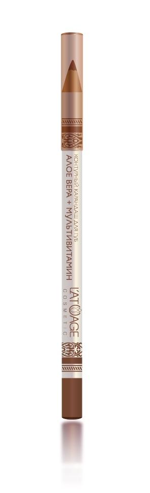 L atuage Cosmetic 4813221000195 Карандаш для губ тон 22 коричневый 1,3 г