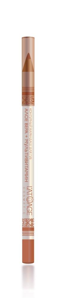 L atuage Cosmetic 4813221000232 Карандаш для губ тон 26 нюдовый 1,3 г