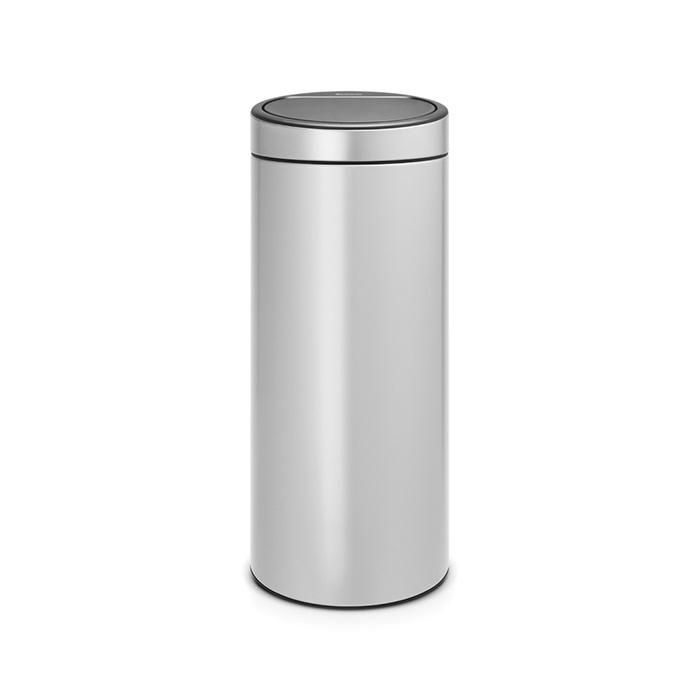 Бак мусорный BrabantiaTouch Bin New 30 л, Серый металлик 115387