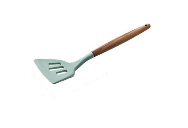 Лопатка кулинарная Silicone Kitchen, цвет мятный 27 см