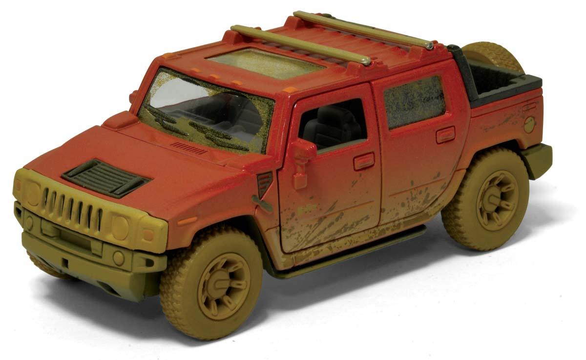 Машинка металлическая с открывающимися дверями, модель Hummer H2 SUT (Muddy)
