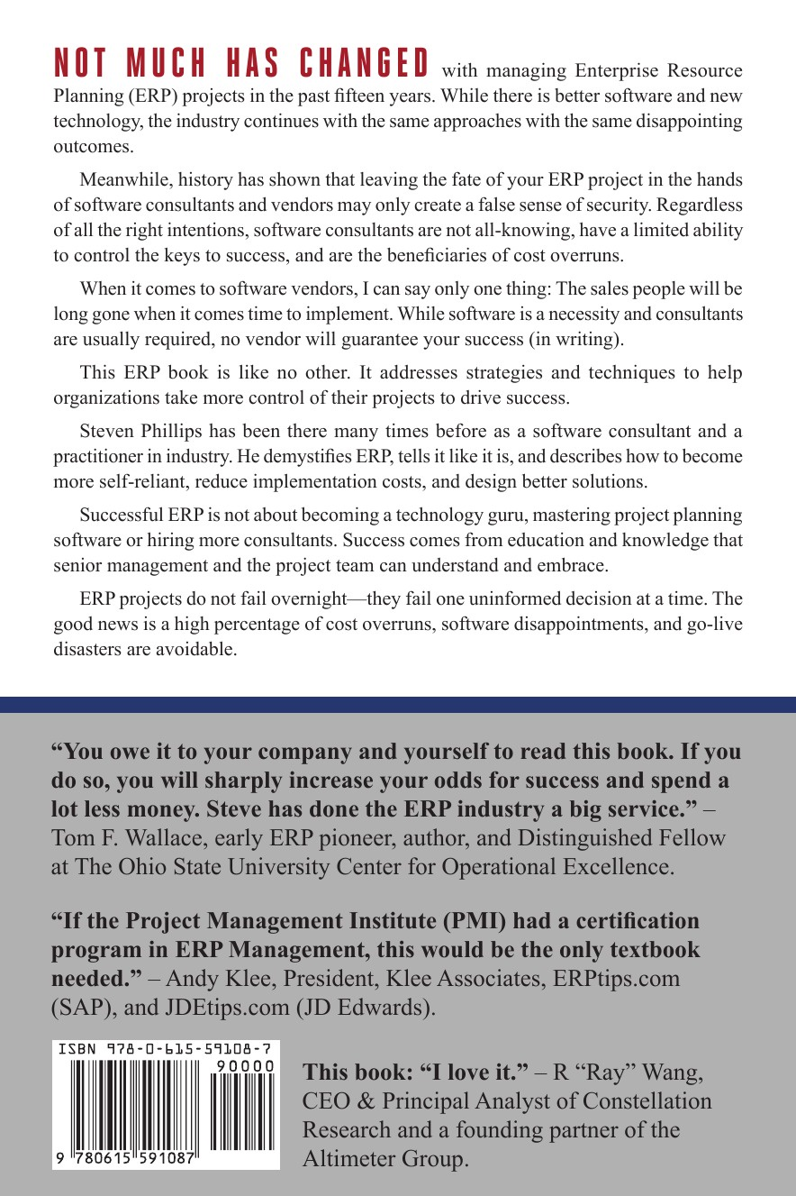 Control Your ERP Destiny. Reduce Project Costs, Mitigate Risks, and Design Better Business Solutions This is the first book to present comprehensive strategies...