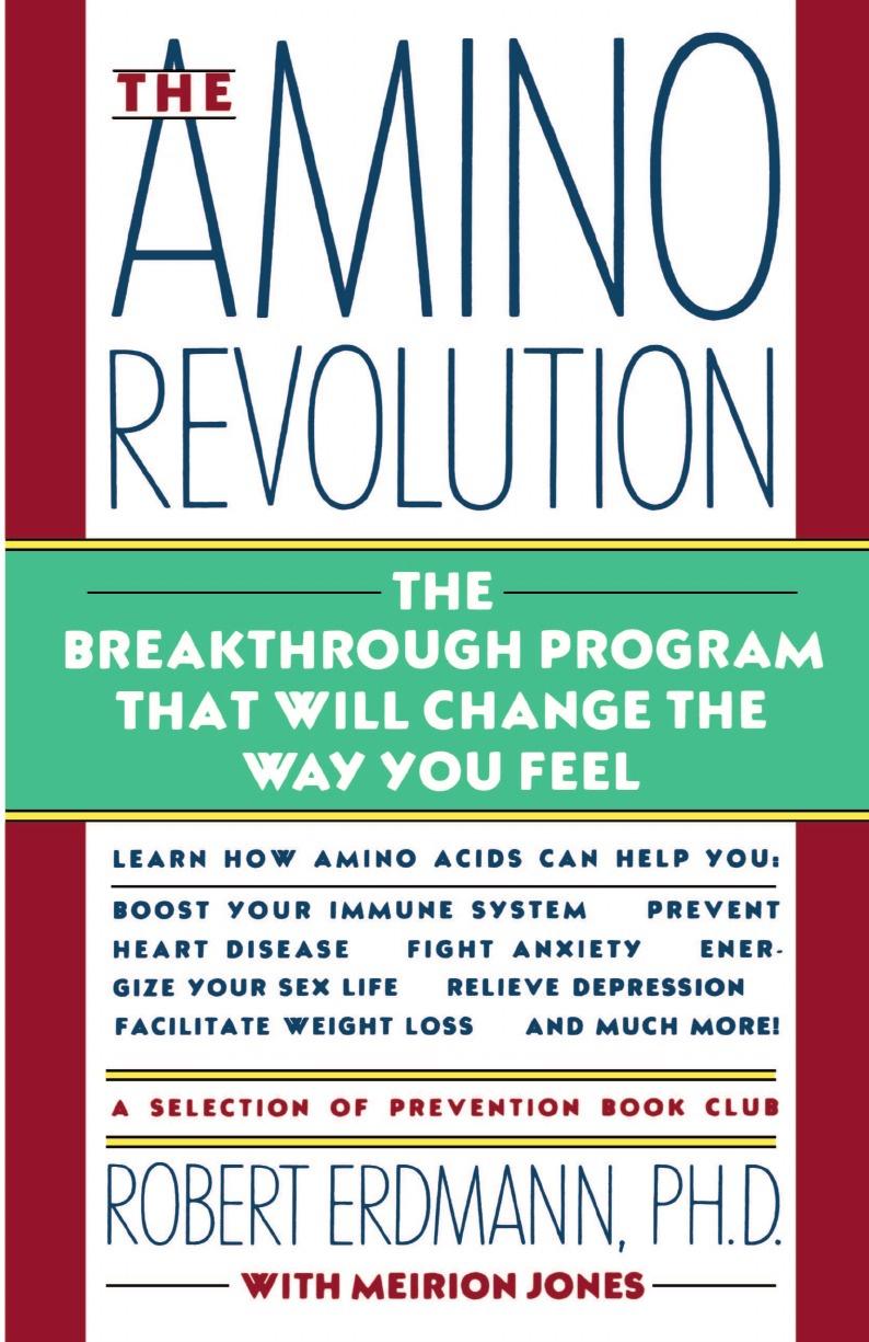 Robert Erdmann, Meirion Jones Amino Revolution meiji amino collagen