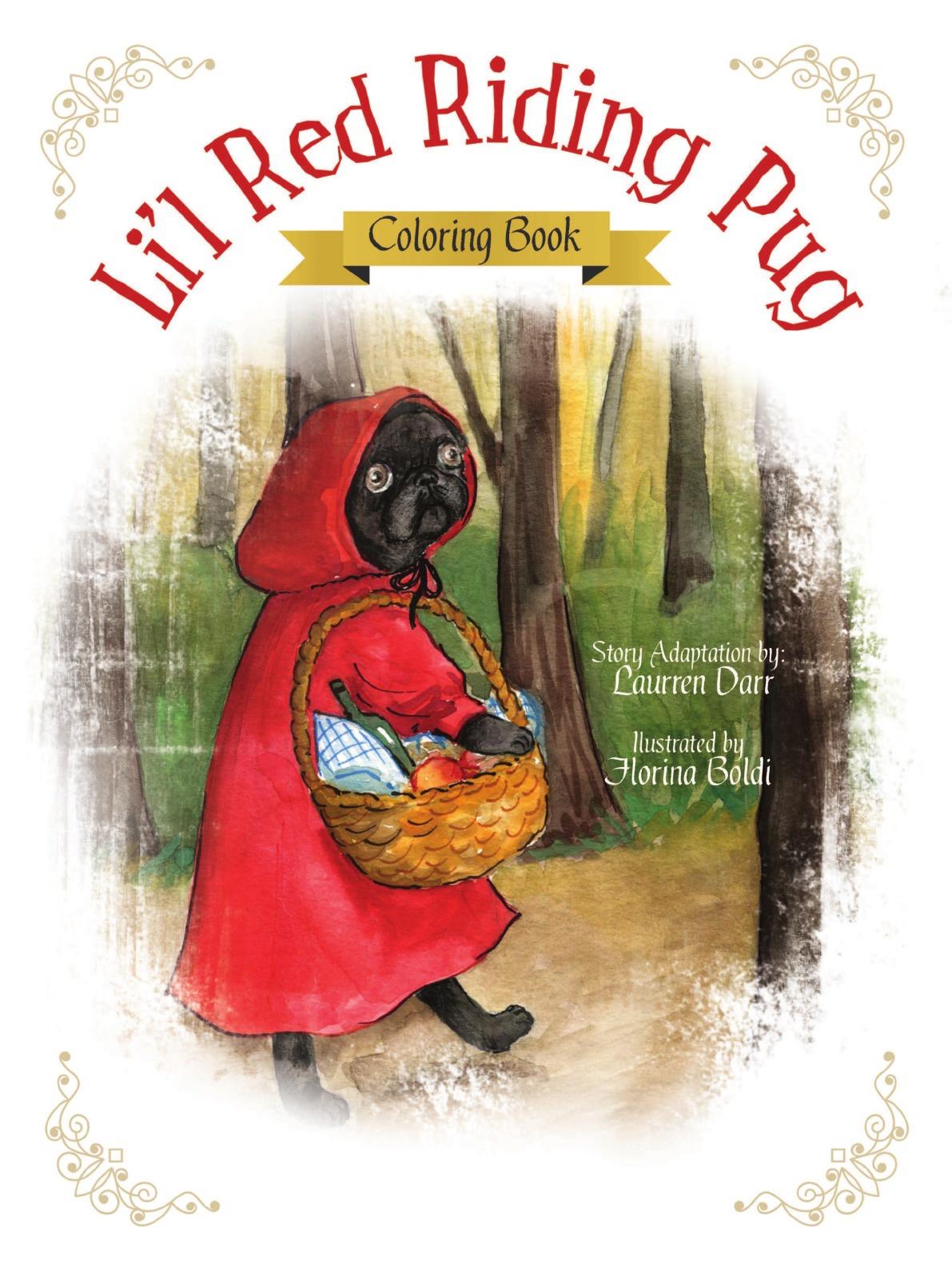Laurren Darr Li'l Red Riding Pug - Coloring Book