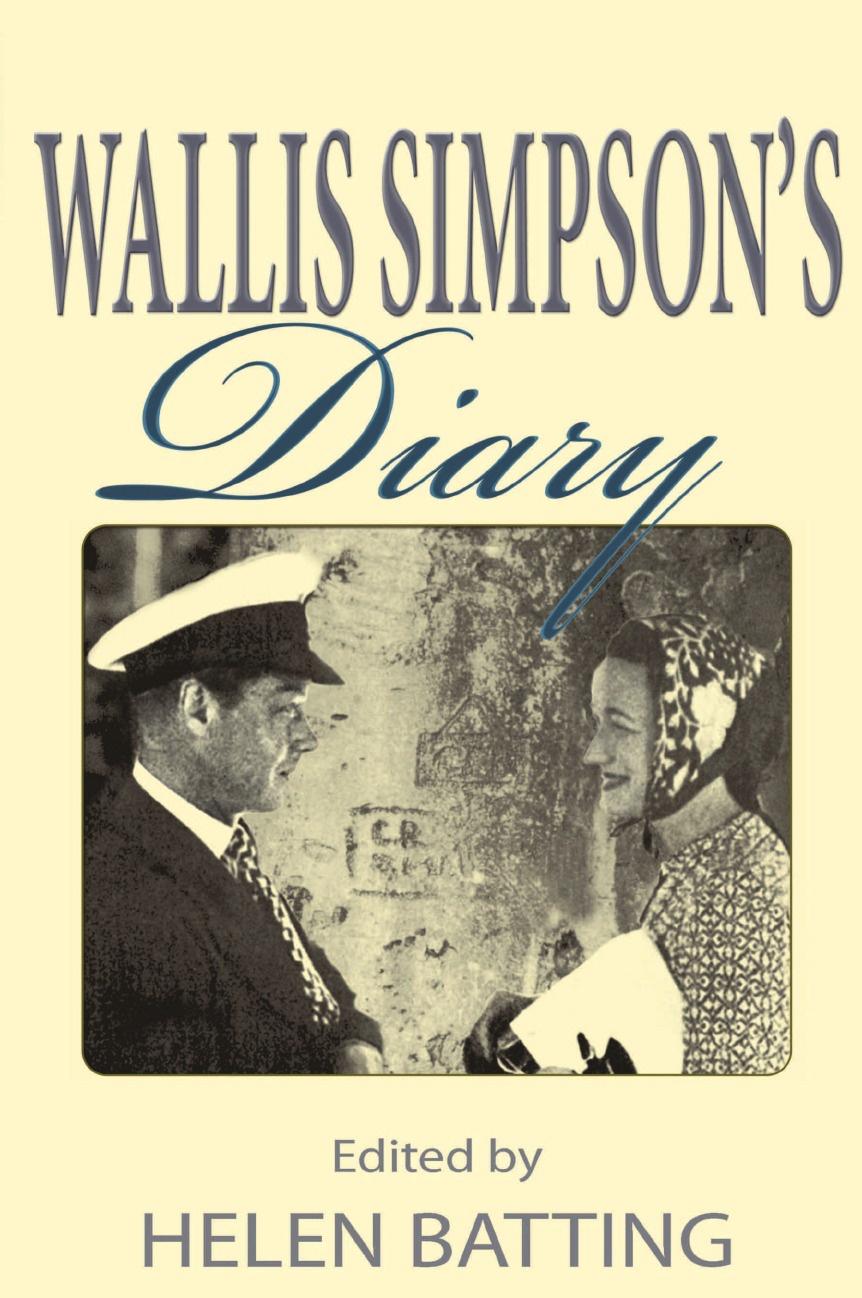 Helen Batting Wallis Simpson's Diary xuanxuan diary black s