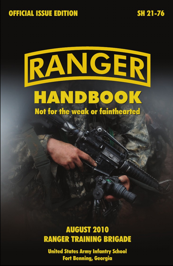 U. S. Army Infantry School, U. S. Department of the Army Ranger Handbook. The Official U.S. Army Ranger Handbook Sh21-76, Revised August 2010 oumily military army survival parachute rope red 30m 140kg 2 pcs