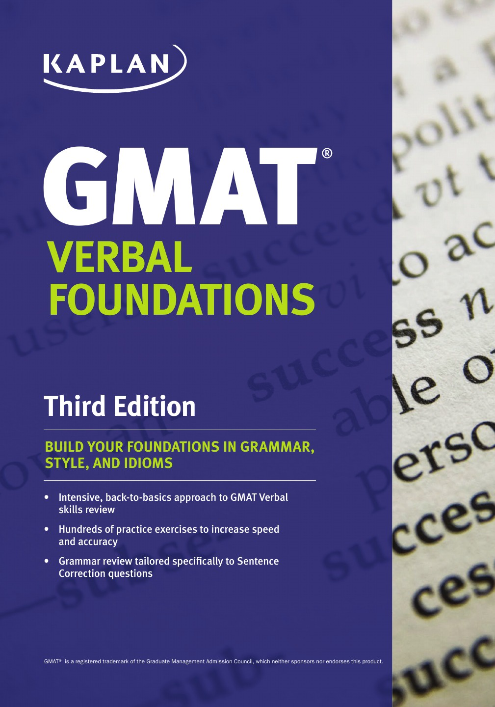 Kaplan Kaplan GMAT Verbal Foundations