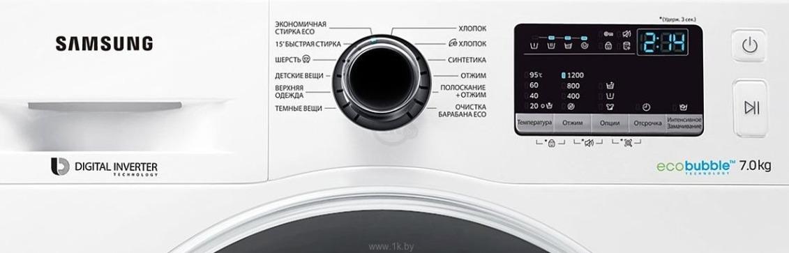 Стиральная машина Samsung WW70J52E0HW, white Samsung