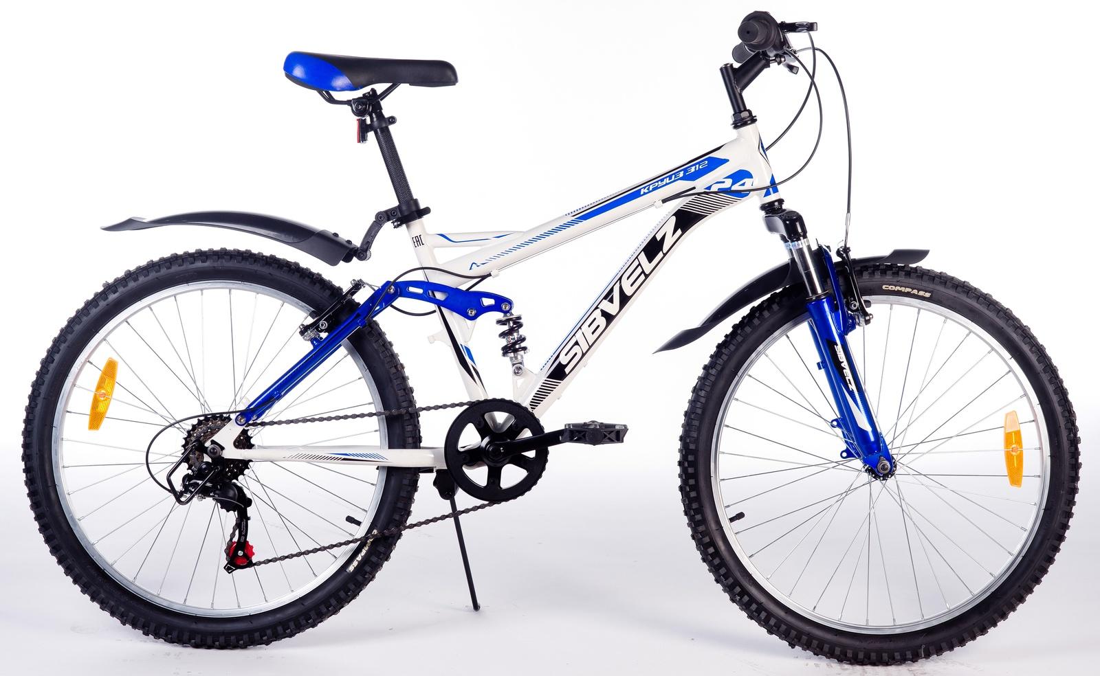 Велосипед Круиз 312 бело_синий