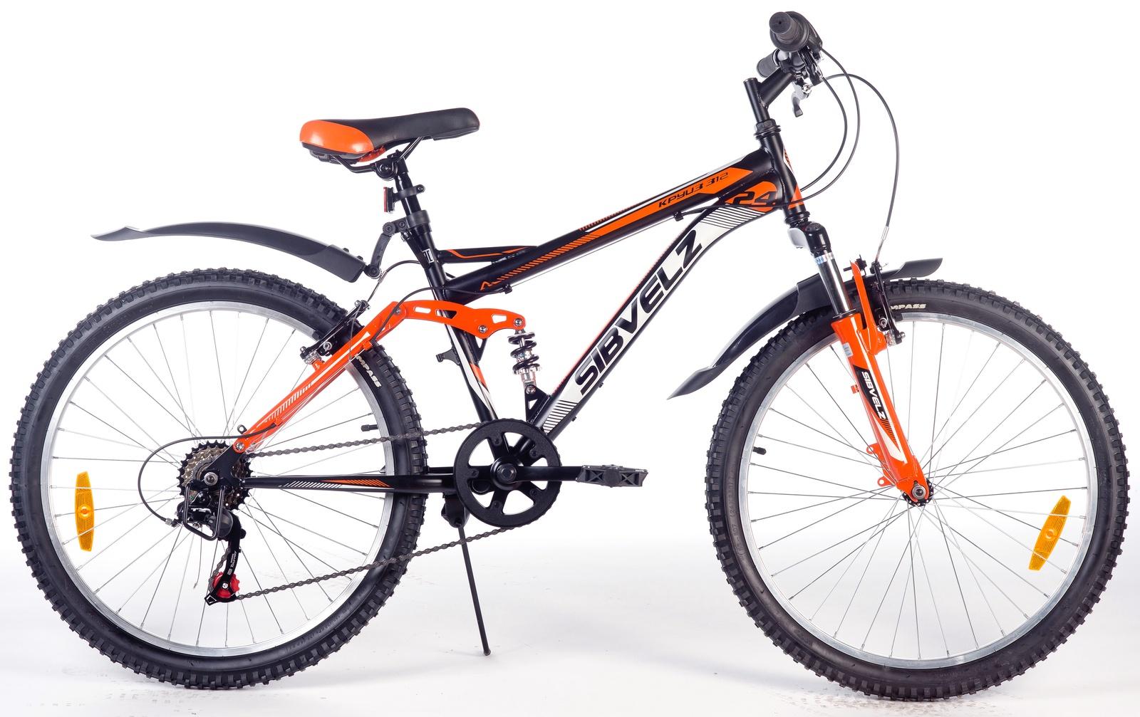 Велосипед Круиз 312 черно_оранжевый