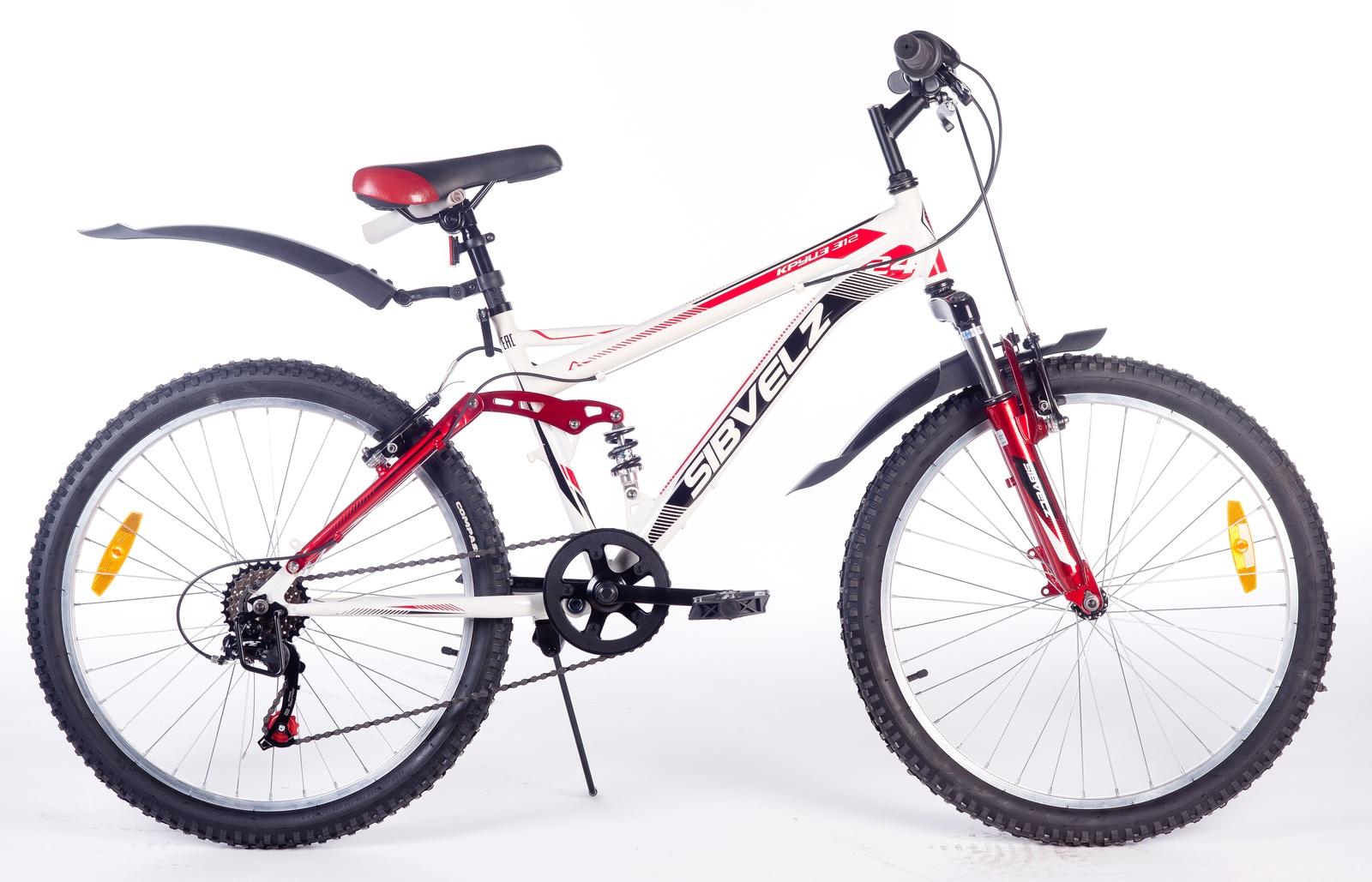 Велосипед Круиз 312 бело_красный