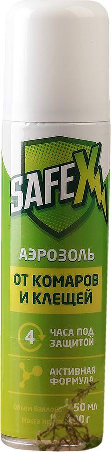 Аэрозоль от клещей и комаров Safex, 150 мл от комаров в квартире