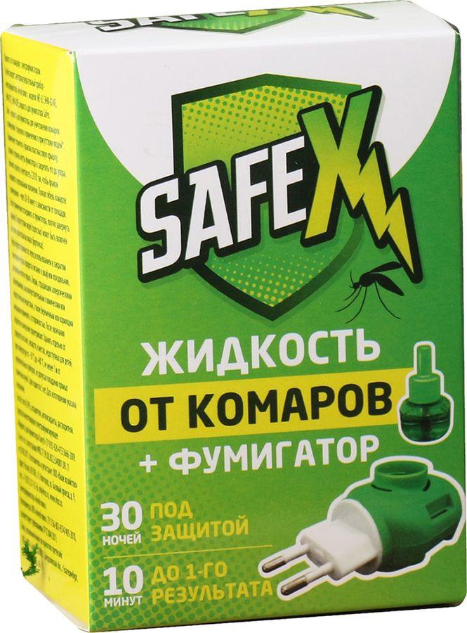 Комплект Safex Фумигатор + Жидкость для фумигатора, 30 мл фумигатор бэби дэта универсальный для детской комнаты жидкость от комаров с индикатором включения 45 ночей 30 мл