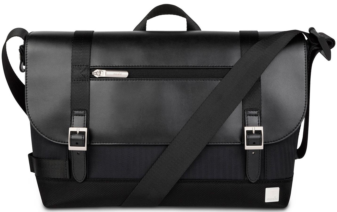 Moshi Carta сумка через плечо для ноутбуков до 13.Материал полиэстер,нейлон,веган-кожа,черный сумка moshi aerio lite для ipad и других планшетов материал хлопок полиэстер цвет синий
